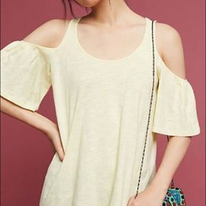 Anthro Promenade Cold-Shoulder Top by Pure+Good